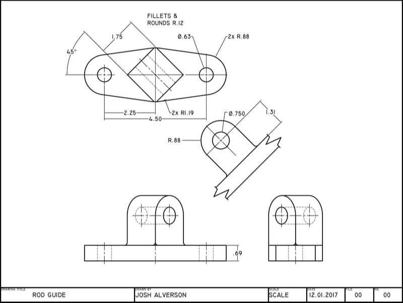 CAD Auxiliary View